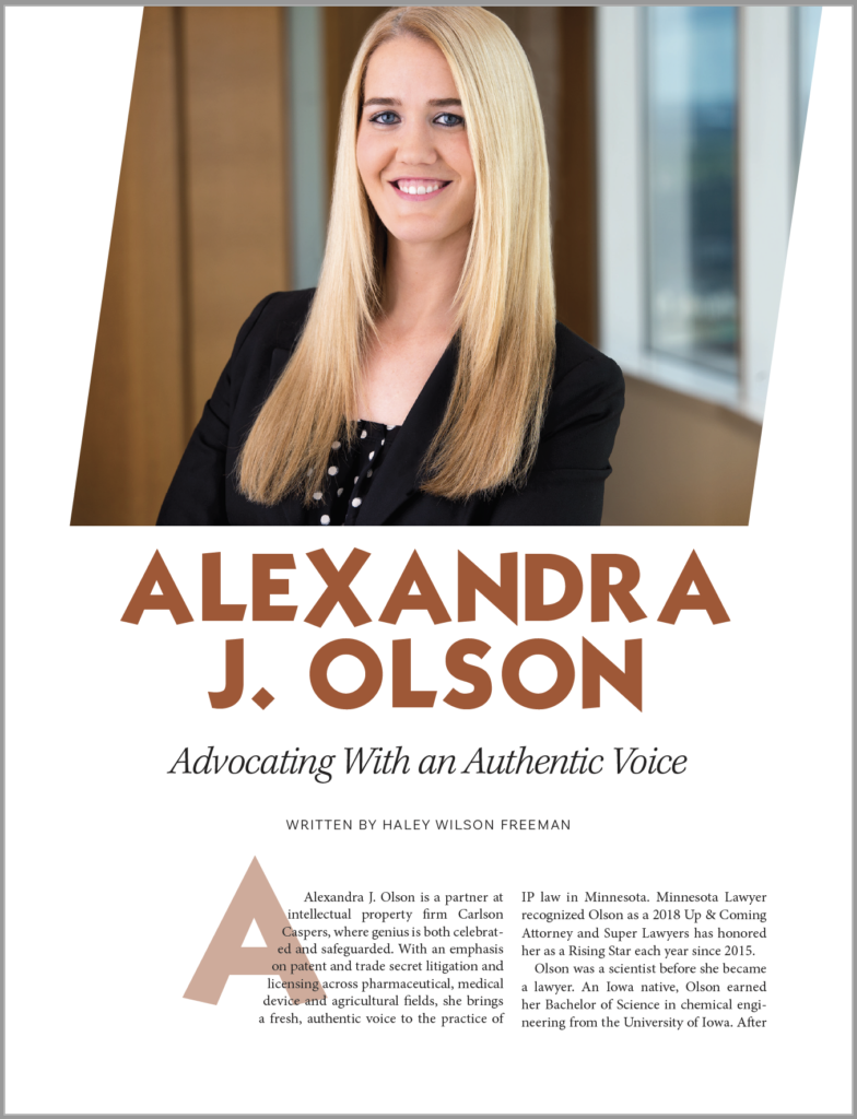 Alexandra Olson - Advocating With an Authentic Voice - Carlson Caspers